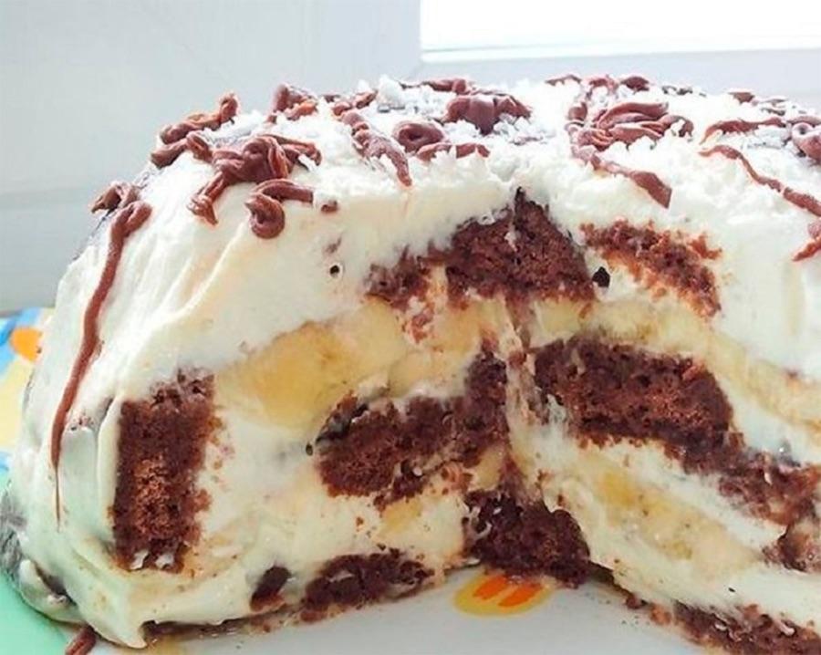 Prăjitură fără coacere, din 3 ingrediente.  Gata în 3 pași