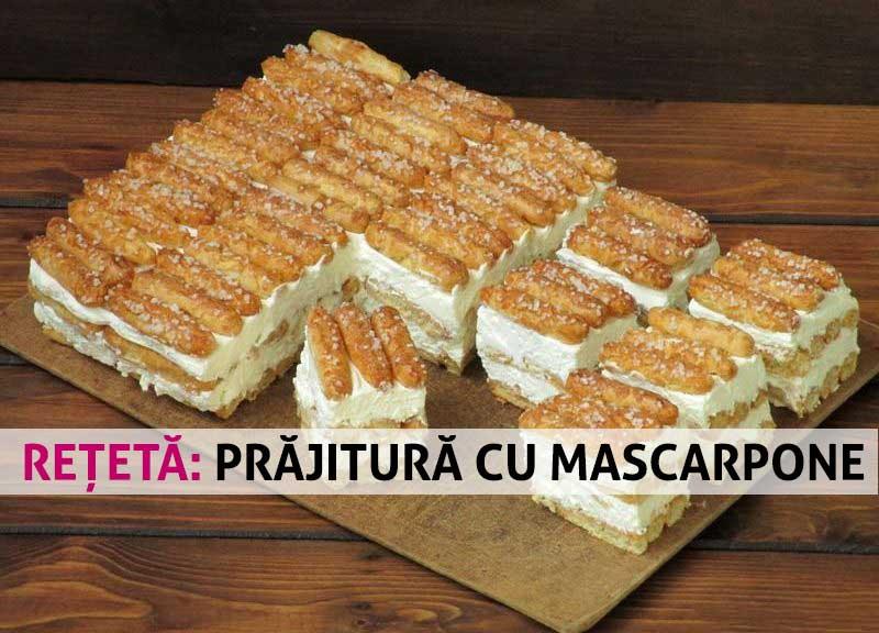 Se face în 15 minute – Prăjitură din pișcoturi și cremă delicioasă cu mascarpone