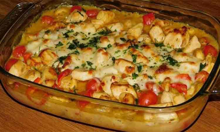 Caserola cu pui si legume la cuptor. Cina pregatita foarte usor pentru toti membrii familiei
